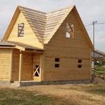 Дома из бруса Настя 6х8 установка Бобруйск и рн