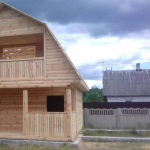 Дома из бруса сруб Татьяна 6 × 4 ,  установка в Бобр