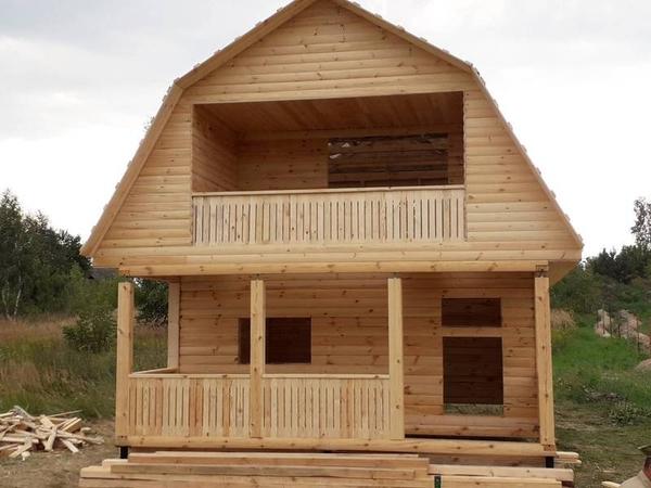 Садовый сруб Дома из бруса Прима 6х6 м с установкой 8